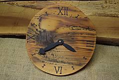 Hodiny - Drevené hodiny (č.18) - 5068685_