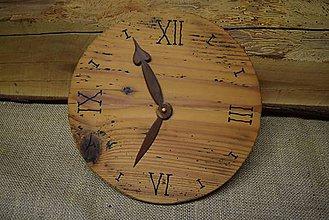 Hodiny - Drevené hodiny (č.16) - 5068649_