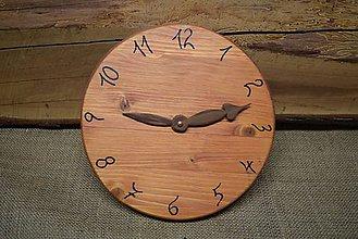 Hodiny - Drevené hodiny (č.17) - 5068668_
