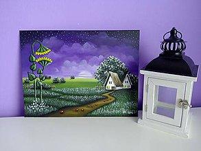 Obrazy - Romantic night - malovany obraz - 5066778_