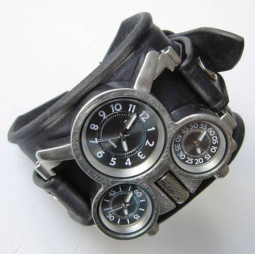 37eeae850 Pánske hodinky s koženým náramkom čierne / leon - SAShE.sk ...