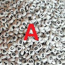 Korálky - Korálky písmeno krúžky biele 6 mm (A) - 5069668_