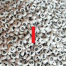 Korálky - Korálky písmeno krúžky biele 6 mm (I) - 5069692_