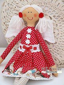 Bábiky - nežnôstka v červenom /babika, víla/ - 5067036_