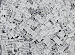 Korálky - Miyuki Tila Beads TL131F - Matte Crystal (10g) - 5070949_