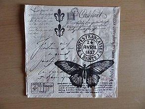 Papier - motýľ  a pečiatka - 5069797_
