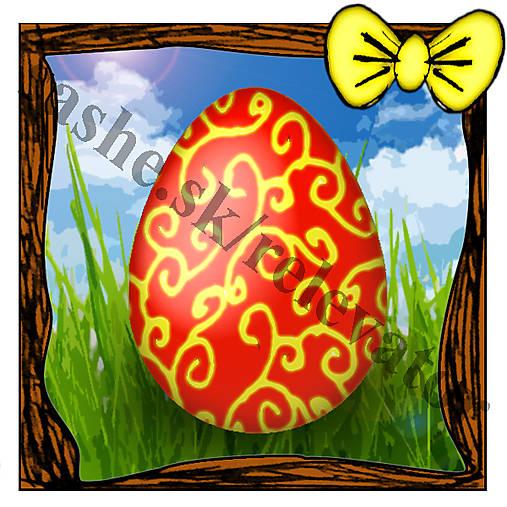 Veľkonočná pohľadnica - veľkonočné vajíčko v tráve 2
