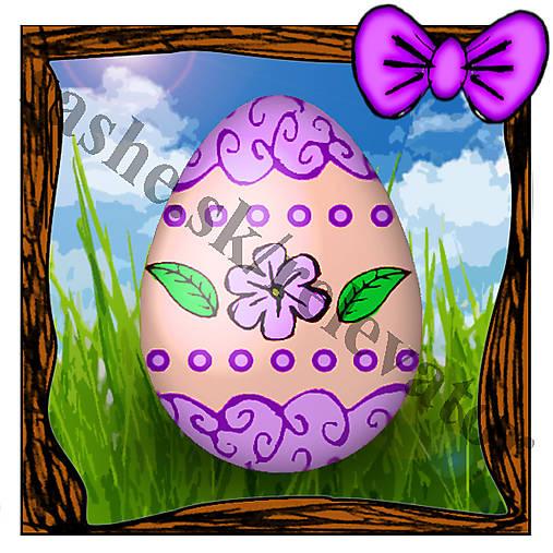 Veľkonočná pohľadnica - veľkonočné vajíčko v tráve 3