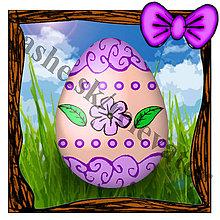 Papiernictvo - Veľkonočná pohľadnica mini- veľkonočné vajíčko v tráve 3 - 5070663_