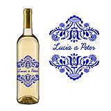 Darčeky pre svadobčanov - Vyrezávané svadobné etikety FOLK III - 5072033_