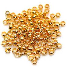 Korálky - Zatláčací rokajl zlatý 2mm /50ks - 5073477_