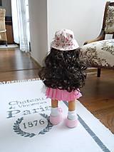 Bábiky - Ružová v skladanej sukničke - 5071775_