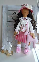 Bábiky - Ružová v skladanej sukničke - 5071777_