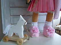 Bábiky - Ružová v skladanej sukničke - 5071779_