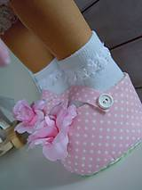 Bábiky - Ružová v skladanej sukničke - 5071783_