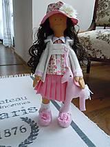 Bábiky - Ružová v skladanej sukničke - 5071786_