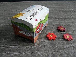Krabičky - pokladnička SVADOBNÁ CESTA - 5073643_
