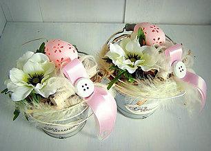 """Dekorácie - kýblik """"Flowers"""" - 5074942_"""