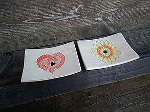 Nádoby - Mydlovnička Srdiečko čipka a Malé slnko - 5076135_