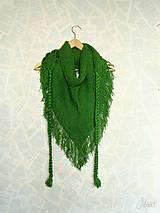 Šatky - Zľava 5,- eur_HiPíSKa... v žiarivej Zelenej s kvapkami rosy... Je SPäŤ - 5077938_