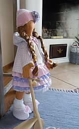 Bábiky - Ružovofialová s mačičkou - 5075885_