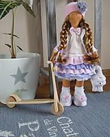 Bábiky - Ružovofialová s mačičkou - 5075886_