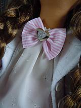 Bábiky - Ružovofialová s mačičkou - 5075889_