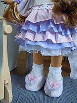 Bábiky - Ružovofialová s mačičkou - 5075890_