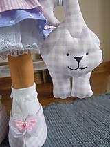 Bábiky - Ružovofialová s mačičkou - 5075891_
