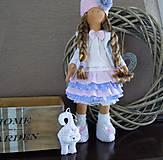 Bábiky - Ružovofialová s mačičkou - 5075892_