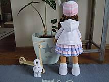 Bábiky - Ružovofialová s mačičkou - 5075893_