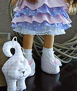 Bábiky - Ružovofialová s mačičkou - 5075894_