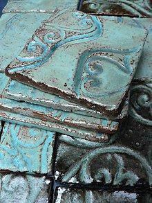 Dekorácie - Tyrkysové kachle Provence - 5077481_