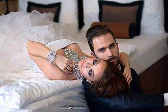 Náhrdelníky - Ľadová kráľovná - náhrdelník - 5078014_
