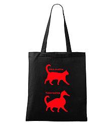 Nákupné tašky - taška Aká mačka, taká kačka - 5076924_