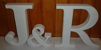Tabuľky - Iniciály na svadobný stôl - 5076402_
