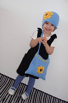 Detské súpravy - kabeeelečka+čiapka pre malú parádnicu-p - 5078654_
