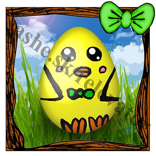 Veľkonočná pohľadnica - veľkonočné vajíčko v tráve 5