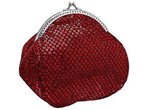 Taštičky - Dámska spoločenská červená kabelka 0860A - 5079954_