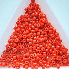 Korálky - Rokajl 2mm-5g (orange) - 5081554_