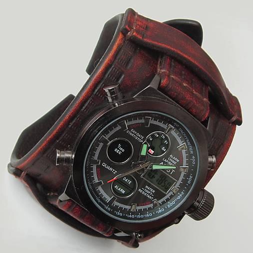 764954356 Pánske hodinky kožené hnedé / leon - SAShE.sk - Handmade Náramky