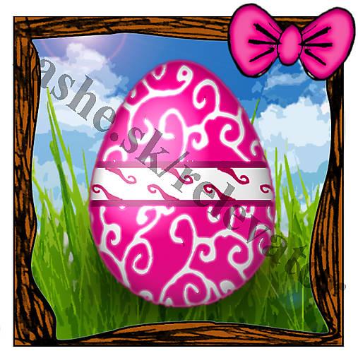 Veľkonočná pohľadnica - veľkonočné vajíčko v tráve 6