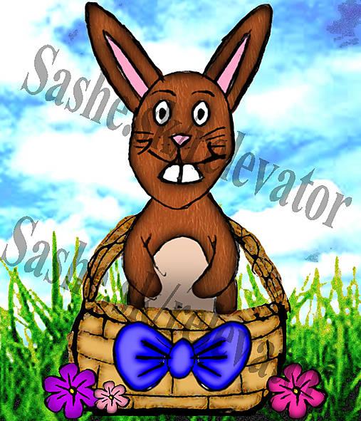 Veľkonočný zajac v košíku :-D