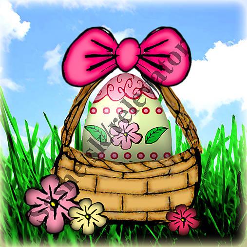Veľkonočné vajíčko v košíčku 1