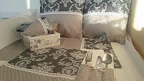 Úžitkový textil - Šedá elegancia - 5084293_