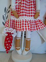 Bábiky - Červená na podstavci so slnečníkom - 5085456_