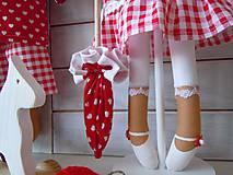 Bábiky - Červená na podstavci so slnečníkom - 5085460_