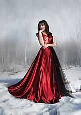 Šaty - Červeno-čierne šaty - 5085813_