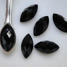 Komponenty - Kabošon plast 12x6mm-1ks (čierna) - 5084021_