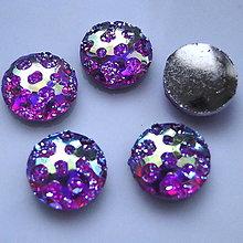 Komponenty - Kabošon plast 10mm-fialová AB-1ks - 5086855_